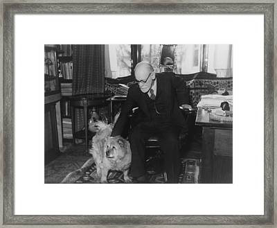 Sigmund Freud 1856-1939, Seated Framed Print by Everett