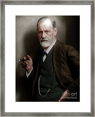 Sigmund Freud Colorized 20170520 Framed Print