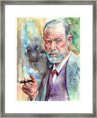 Sigmund Freud Portrait Framed Print