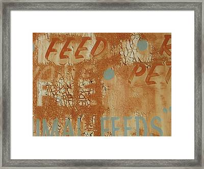 Sign Abstract Framed Print