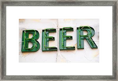 Sign Advertising Beer Framed Print