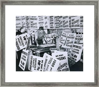 Sign Contractor Stanley Sawicki Framed Print
