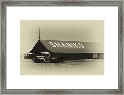 Sign Of A Ghost Town Framed Print by Marnie Patchett
