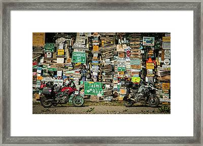 Sign Post Forest Framed Print by Edie Ann Mendenhall