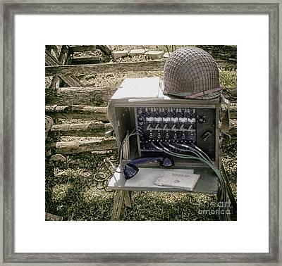 Signal Corps U.s. Army  Framed Print by Steven Digman