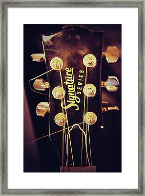 Signature Guitar Framed Print by Toni Hopper