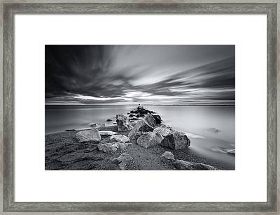 Signature In Black And White Redux Framed Print