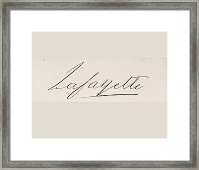 Signature Of Framed Print