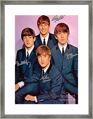Signed Beatles Poster Framed Print by Pd