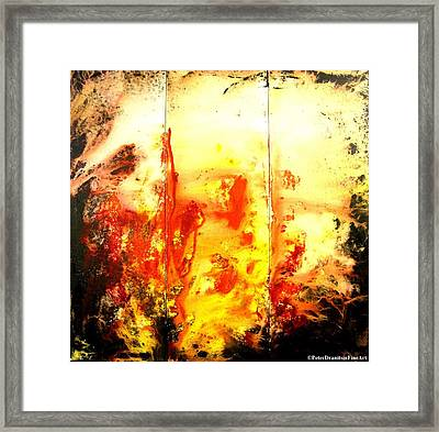 Signed By Fire Framed Print by Peter Dranitsin