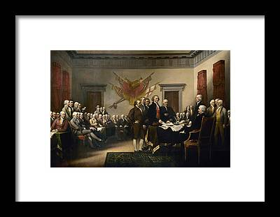 Declaration Of Independence Framed Prints