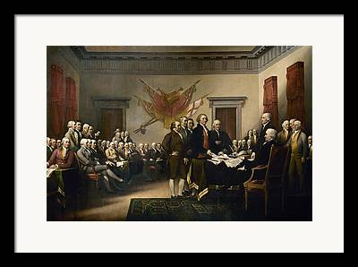 Declaration Of Independance Framed Prints