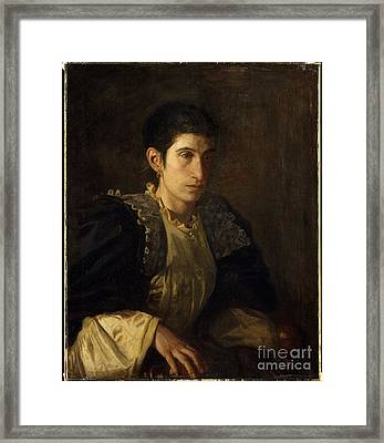 Signora Gomez D'arza Framed Print by Celestial Images