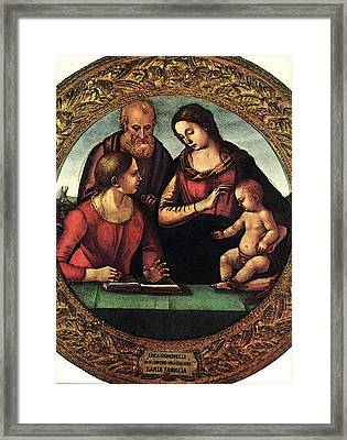 Signorelli Luca Madonna And Child With St Joseph And Another Saint Framed Print