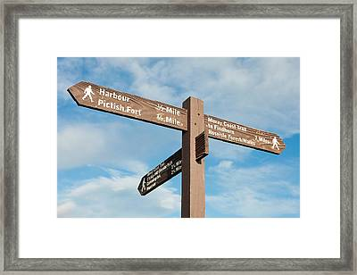 Signpost Framed Print by Tom Gowanlock
