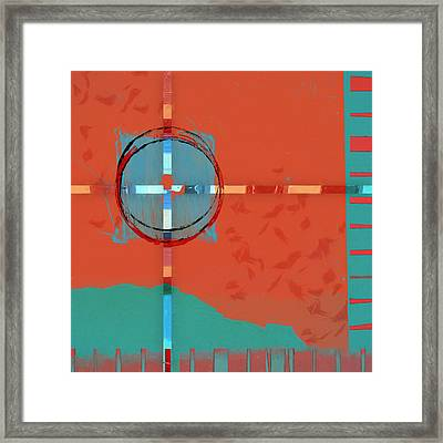 Signpost Up Ahead Framed Print