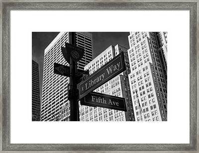 Signs Framed Print by Jessica Jenney