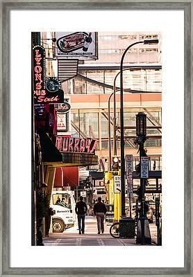 Signs Of Minneapolis Framed Print