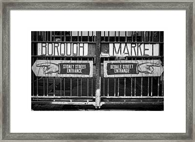 Signs Point The Way Framed Print by Heather Applegate