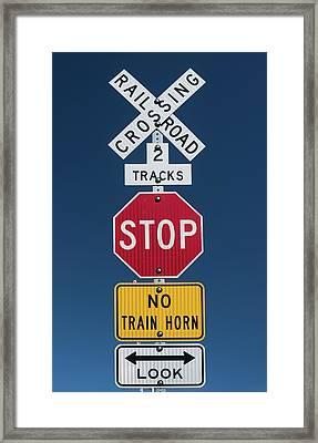 Signs Framed Print by Steve Gadomski