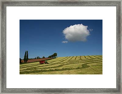 Silage Making  Framed Print