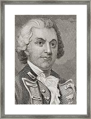 Silas Talbot 1751 - 1813. American Framed Print by Vintage Design Pics