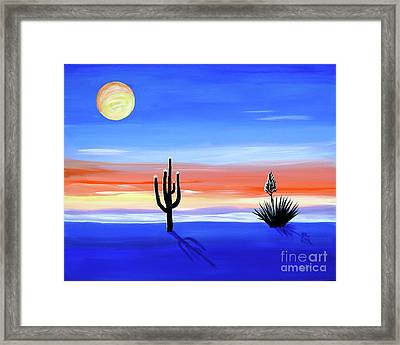 Framed Print featuring the painting Silellnt Shadows by Phyllis Kaltenbach