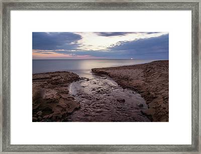 Silence And Solitude At Cavendish Beach Framed Print by Chris Bordeleau