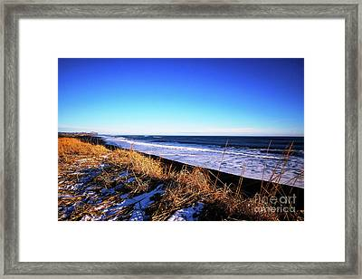 Silence At Black Sand Beach Framed Print