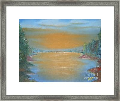 Framed Print featuring the painting Silence by Barbara Hayes