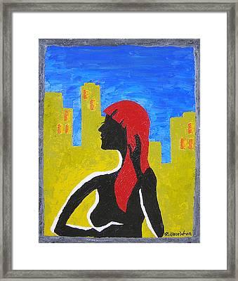 Silence In The City Framed Print by Ricklene Wren