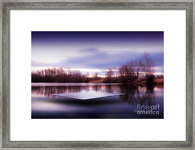 Framed Print featuring the photograph Silence Lake  by Franziskus Pfleghart