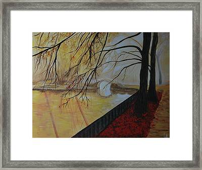 Framed Print featuring the painting Silence by Leslie Allen