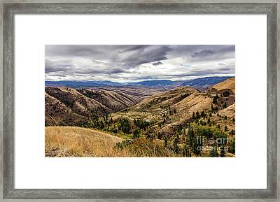 Silence Of Whitebird Canyon Idaho Journey Landscape Photography By Kaylyn Franks  Framed Print