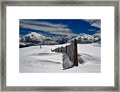 Silence Of Winter Framed Print by Mountain Dreams