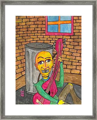 Silenced In The Corner Framed Print by Jessica Kauffman