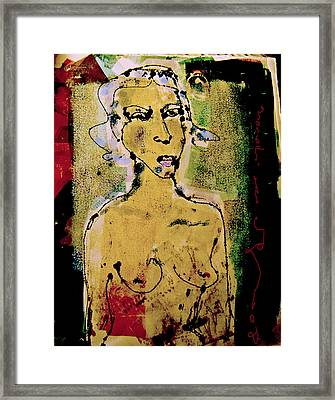 Silent Abuse Framed Print by Noredin Morgan