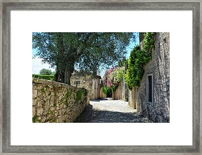 Silent Alley In Locanda San Vigilio Framed Print by Joachim G Pinkawa