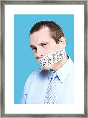 Silent Businessman Showing Measured Restraint Framed Print