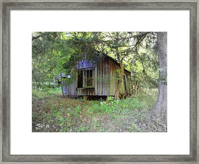 Silent By The Side Of The Road Framed Print by Terry  Wiley