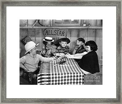 Framed Print featuring the photograph Little Rascals by Granger