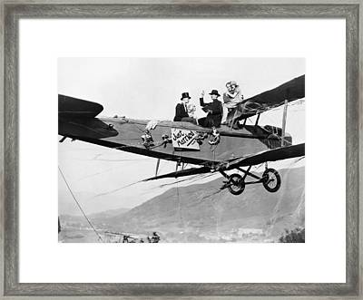 Silent Film Still: Stunts Framed Print by Granger