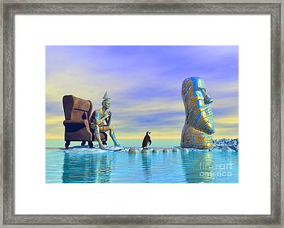 Silent Mind - Surrealism Framed Print by Sipo Liimatainen