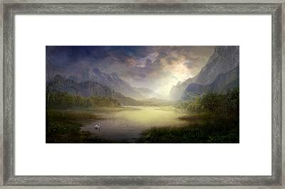 Silent Morning Framed Print by Philip Straub