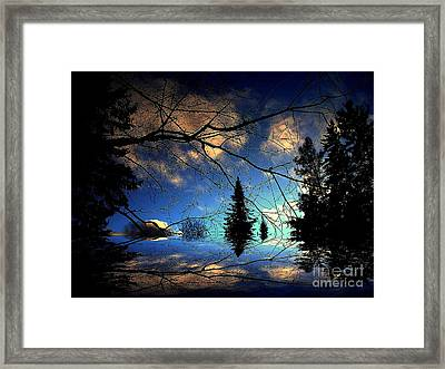 Framed Print featuring the photograph Silent Night by Elfriede Fulda