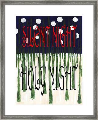 Silent Night Holy Night Framed Print by Patrick J Murphy