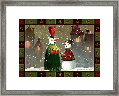 Silent Night Framed Print by Kristina Vardazaryan