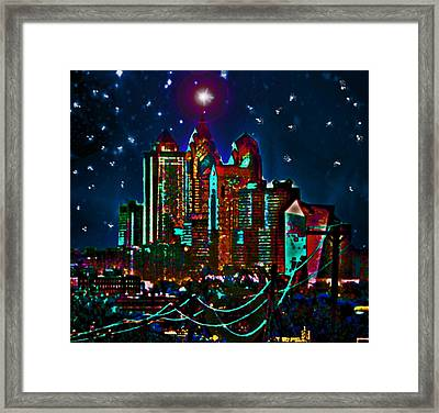 Silent Night Philly Night Framed Print by Jonathan Shaps