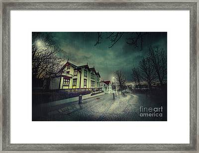 Silent Night Street Framed Print by Svetlana Sewell