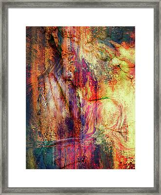 Silent Prayers Abstract Realism Framed Print